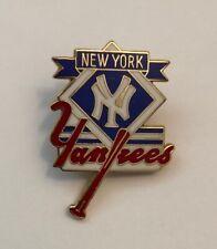 Vintage New York Yankees MLB Enamel Lapel Hat Pin Baseball Bronx NYC Gold Tone