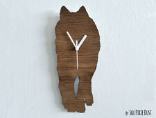Wolf Walking - Wooden Wall Clock