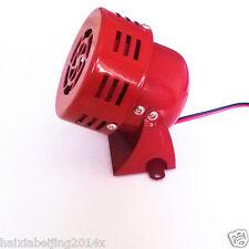 Red Driven Air Raid Siren Tornado Horn Alarm Loud Sound Fire Security For Suzuki
