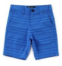 Nwt Hurley Boys Striped Walk Shorts Fountain Blue Size 16 Regular Fit 10� Inseam