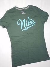 Nike womens slim fit green Nike swoosh short sleeve t- Shirt size Large