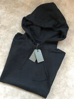 "ALL SAINTS JET BLACK ""KINLEY"" S/S HOODY SWEATSHIRT TOP HOODIE - S M L - NEW TAGS"
