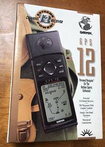 Garmin GPS 12 Handheld Personal Navigator Bundle & Manuals. Open Box. Free Ship