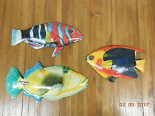 3 Handpainted Metal Art Decor Wall Hanging Fish #