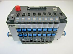 Festo CPV14-VI Valve Bank with Profibus-DP Interface and Eight 161362 Valves