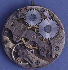 Langendorf 20s Vintage 10.5L 6j Cylinder Movement w/Engraved Dial Parts/Repairs
