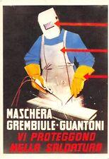 0464) MASCHERA GREMBIULE GUANTONI VI PROTEGGERANNO NELLA SALDATURA.