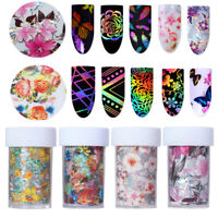 4*100cm Holographic Nail Foil Rose Flower Nail Art Transfer Sticker DIY Decals