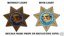 "CALIFORNIA HIGHWAY PATROL POLICE BADGE DECAL 3½"" x 3½"""
