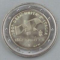 """2 Euro Italien 2011 """"150 Jahre Vereinigung"""" unz"""