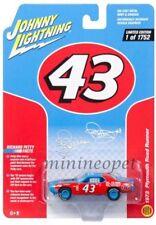 JOHNNY LIGHTNING JLSP001 1972 PLYMOUTH ROAD RUNNER PETTY #43 1/64 DIECAST BLUE