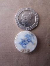 Vintage Gaming Token - Chinese / Asian - Pottery (item code ws95) double sided