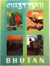 BHUTAN 1969 Block 29-30 S/S 104h-i Vögel Birds Fauna 3D Fasan Bussard MNH