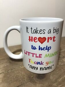 Thank you Teacher Mug Cup Gift End of term school class Personalised
