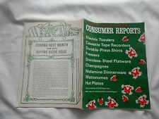 CONSUMER REPORTS-NOVEMBER,1969-ELECTRIC TOASTERS-FREEZERS-METRONOMES-HOT PLATES