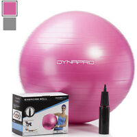 DynaPro Direct Exercise Ball with Pump GYM QUALITY Fitness Ball Color Pink