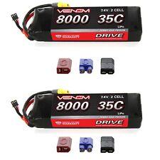 Venom 35C 2S 8000mAh 7.4V LiPo Battery with Universal Plug x2 Packs