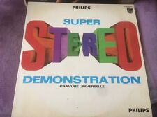 DISQUE TEST PHILIPS - DEMONSTRATION SUPER STEREO 33t (a28)