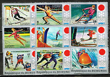 Burundi Sport Winter Olympics Sapporo stamps 1972