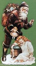 Father Time Santa & Child Victorian Christmas Ornament Old Print Factory