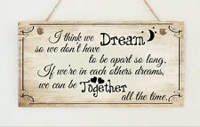Superb Shabby Plaque Dream Together Winnie the Pooh Quote Love Present Chic Gift