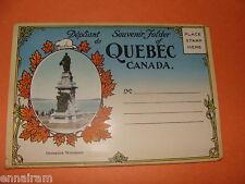 Souvenir Folder Quebec Canada French/English strip mailer 20 views fold-out