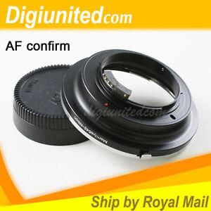 AF Confirm Mamiya 645 M645 lens to Nikon F mount adapter D600 D800 D5200 D7100