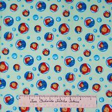 Paddington Bear Fabric - Raindrop Bubble Green - Quilting Treasures 1.25 YARD