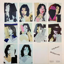 """Andy Warhol """"Mick Jagger 1975"""" mini folio the first and never released edition."""