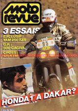 MOTO REVUE 2734 YAMAHA 250 TZR GAGIVA 500 KTM BARIGO SICCARDI PARIS DAKAK 1986