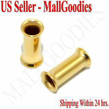 1112 Gold Double Flare Tunnels 6 Gauge 6G Ear Plugs 4mm