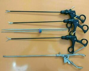 Needle Holder Set Laparoscopic Training Instruments Kit Grasper Forceps Curved