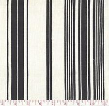 Josas 047 Black White Stripe Print Home Decor Fabric BTY