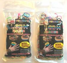 Diy Loom Bands *2 Pack* Bracelet Making Kits 1200 Bands + 2 Looms + 50 Connector