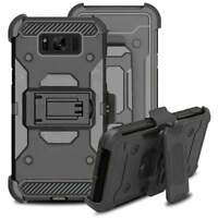Galaxy S8 Plus Shockproof Rugged Hybrid Armor Case Cover Stand Holster Belt Clip