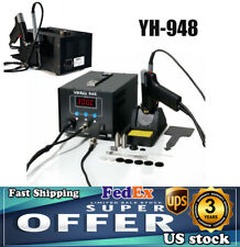 Yh 948 2 In 1 Soldering Iron Desoldering Station Vacuum Pump Gun Esd Safe 80w Us