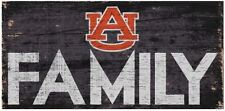 """Auburn Tigers FAMILY Football Wood Sign - NEW 12"""" x 6""""  Decoration Gift"""