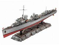 Revell Modellbausatz Schiff 1:350 - GERMAN DESTROYER TYPE 1936 im Maßstab...