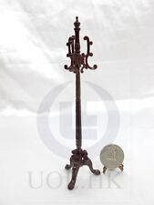 1:12 Scale Miniature Carved Coat Stand For Doll House[Finished In Mahogany]
