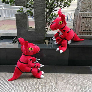 24'' Anime Digital Monster Digimon Red Guilmon Plush Toy Stuffed Cartoon Gifts