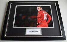 Wayne Rooney SIGNED FRAMED Photo Autograph 16x12 display Manchester United & COA