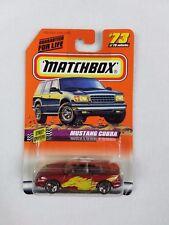 1997 MATCHBOX Mustang Cobra #73/75 Series 10 Street Cruisers Mattel Wheels NEW