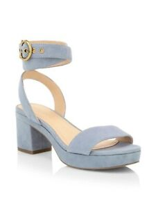 NEW Coach Serena C-Buckle Suede Platform Sandals SHOES  BLUEBELL SIZE 5 NWOB