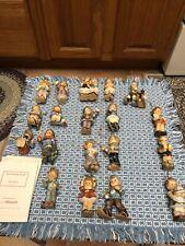 Studio Hummel Berta Goebel Christmas Ornaments Vintage Lot of 19 Figurines Coa