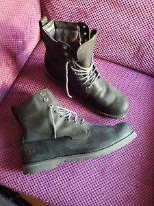 Mens Timberland Boots Size 11.5(46) Ortholite Waterproof Dark Grey.Next day ship