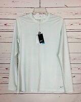 NIKE Golf Women's L Large White Stripe Long Sleeve Dri-Fit UPF Shirt Top New Tag