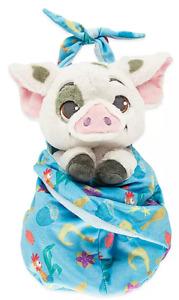 "Disney Parks Moana Pua Babies Hei Hei Blanket Pouch Baby 10"" Plush Doll - NEW"