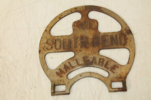 ANTIQUE WOOD STOVE THE SOUTH BEND MALLEABLE STOVE PARTS POT HOLDER