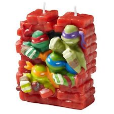TEENAGE MUTANT NINJA TURTLES TMNT PARTY SUPPLIES 3D SHAPED BIRTHDAY CAKE CANDLE