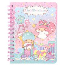 Sanrio Little Twin Stars Laser Cover Mini Spiral Notebook 9-6398-15 TS Free Ship
